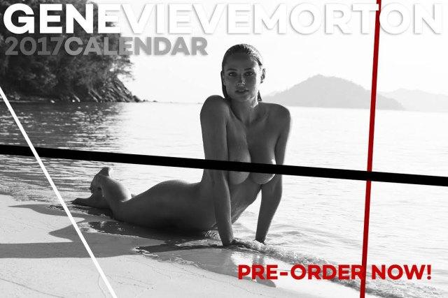 Genevieve Morton - 2017 Calendar Topless (3)