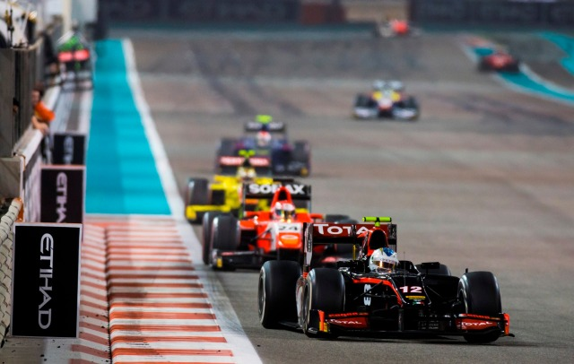 2016 GP2 Series Round 11. Yas Marina Circuit, Abu Dhabi, United Arab Emirates. Saturday 26 November 2016. Johnny Cecotto Jr. (VEN, Rapax)  Photo: Sam Bloxham/GP2 Series Media Service. ref: Digital Image _SLA8408