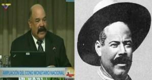 """El look """"Pancho Villa"""" que lució Merentes para presentar los nuevos billetes del cono monetario (FOTO)"""