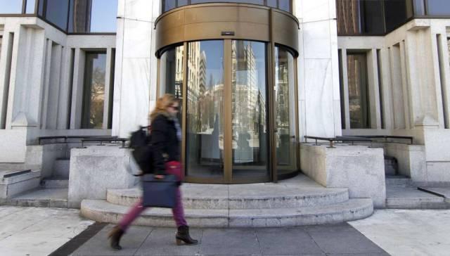 Estado actual de la sede de Banco de Madrid, junto a la plaza de Colon de la capital Kike Parra