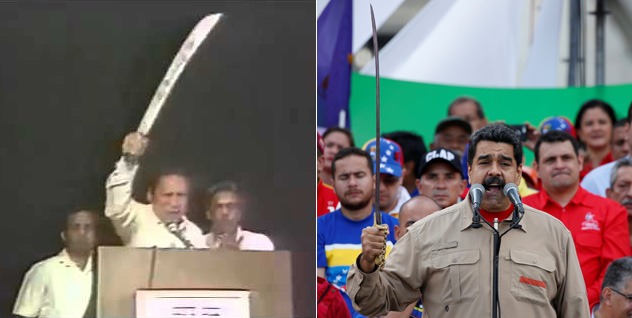 Resultado de imagen para Foto de Noriega con un machete en alto