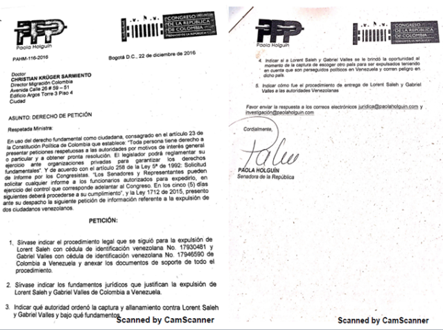 Documento a Colombia