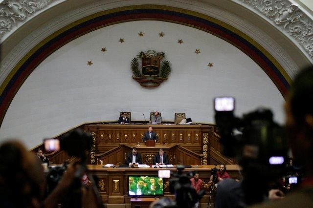 A general view is seen of Venezuela's National Assembly during a session in Caracas, Venezuela January 9, 2017. REUTERS/Marco Bello
