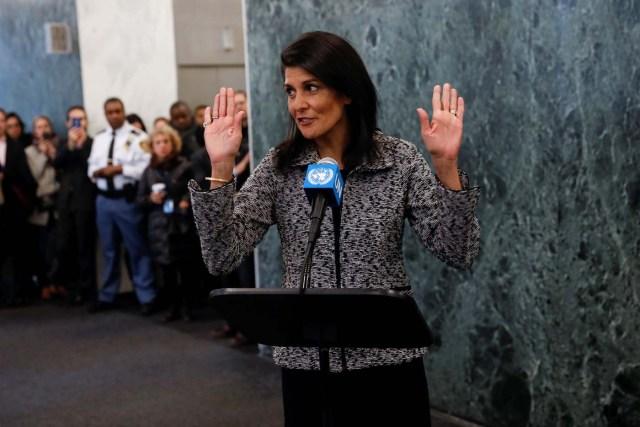 La embajadora de EEUU en la Onu, Nikki Haley (Foto REUTERS/Mike Segar)