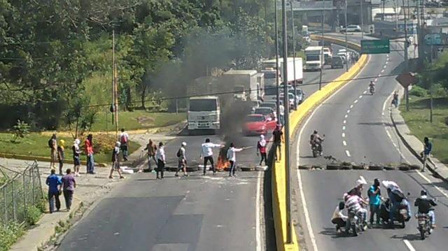 panamericana protesta