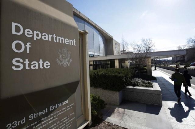 Fachada del Departamento de estado de EEUU (Foto: Reuters)