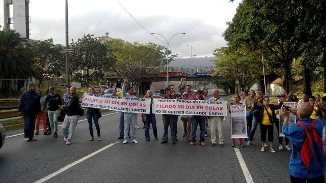 protesta comida caracas