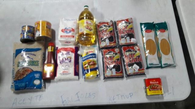 Detalles de los productos con los que rellenan las cajas Clap en Panamá / lapatilla.com