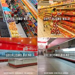 Capitalismo malo, socialismo bueno (fotocomparaciones) Parte I