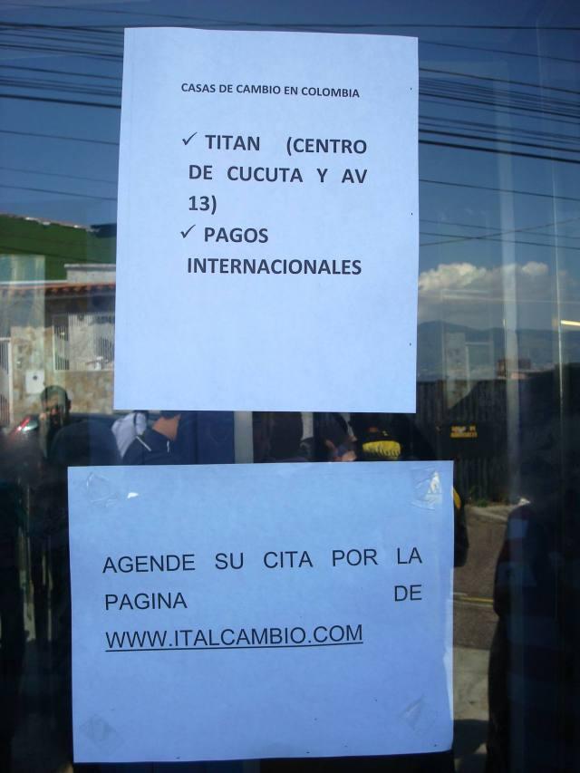 En Cúcuta fueron dispuestos dos centros de intermediación cambiaria para que los venezolanos retiren los pesos comprados en el país a una tasa de 4 pesos por bolívar