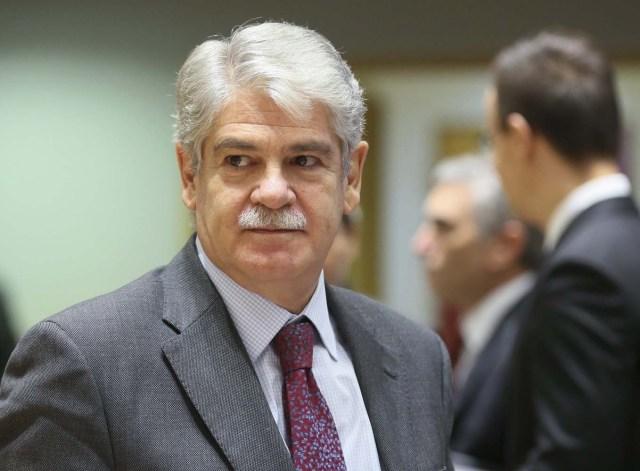 El ministro de Exteriores español, Alfonso Dastis (Foto EFE/OLIVIER HOSLET)