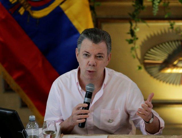 El presidente, Juan Manuel Santos abogó por el respeto a los hermanos venezolanos en su país. Foto: Reuters