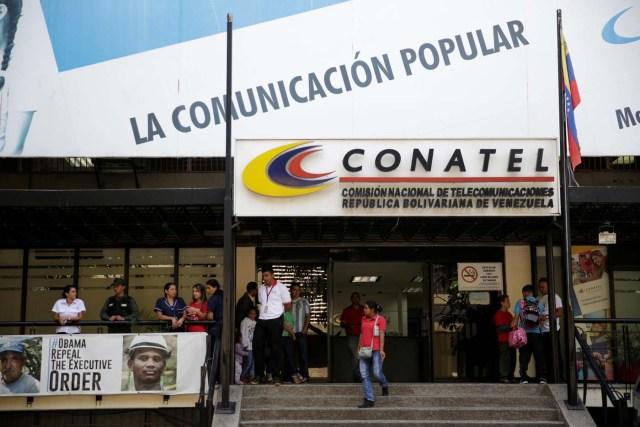 Fachada de la sede de Conatel en Caracas (Foto: Reuters)