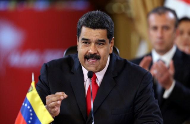 Venezuela's President Nicolas Maduro speaks during an ALBA alliance summit to mark fourth anniversary of the death of Venezuela's late President Hugo Chavez in Caracas, Venezuela, March 5, 2017. REUTERS/Carlos Garcia Rawlins