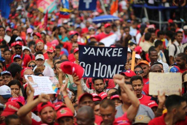 marcha chavista yankee go home