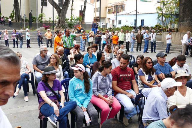Militantes de Voluntad Popular en Chacao (Foto Román Camacho/lapatilla.com)