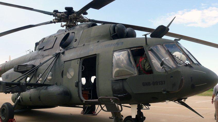 El helicóptero MI17V5 EV0796 (Foto globovision.com)