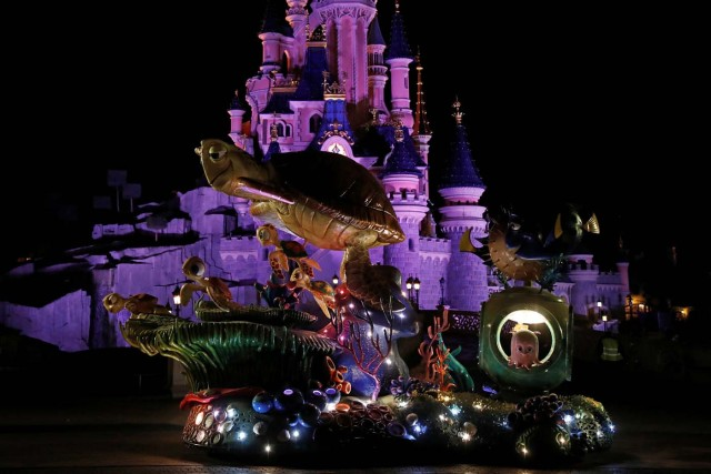 The Finding Nemo & Finding Dory's Char is seen during a rehearsal for the Disney Stars on Parade, the new parade to celebrate the 25th anniversary of the park, in Disneyland Paris in Marne-la-Vallee, near Paris, France, March 21, 2017. Picture taken March 21, 2017.  REUTERS/Benoit Tessier