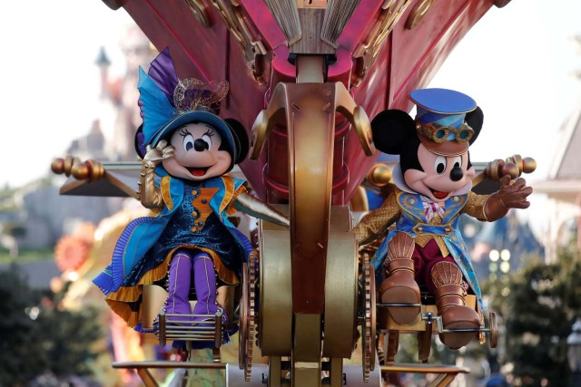 The Disney Stars on Parade is pictured at the 25th anniversary celebrations of Disneyland Paris, in Marne-la-Vallee, near Paris, France, March 25, 2017. REUTERS/Benoit Tessier