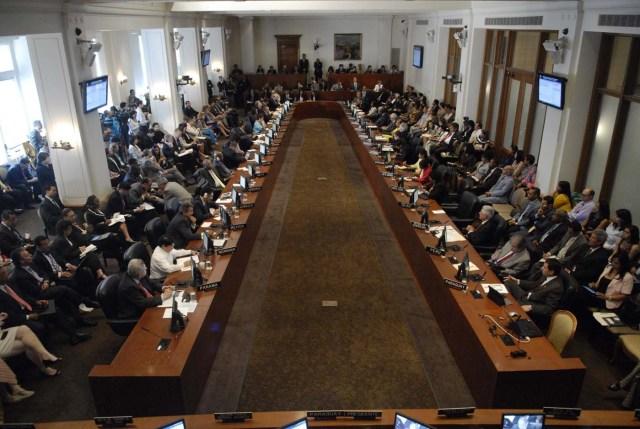 Vista general de la sesión extraordinaria del Consejo Permanente de la Organización de Estados Americanos (OEA) /Foto EFE