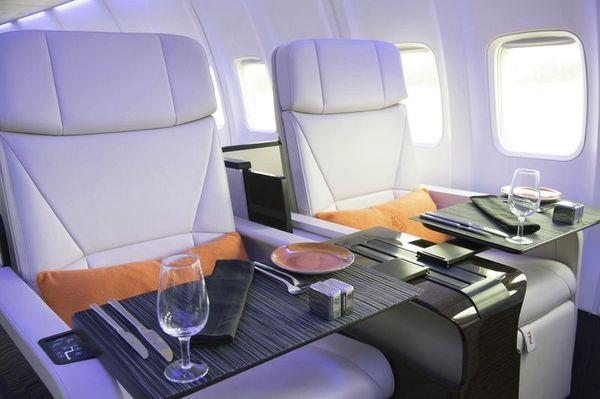 Uno de los aviones privados acondicionados por Four Seasons para sus programas de viajes excusivos. (Four Seasons)