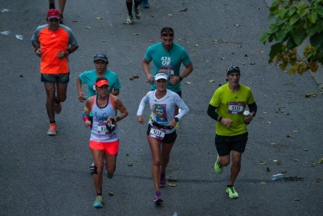 Foto: Lilian Tintori de López en el Maratón de la CAF / Nota de prensa