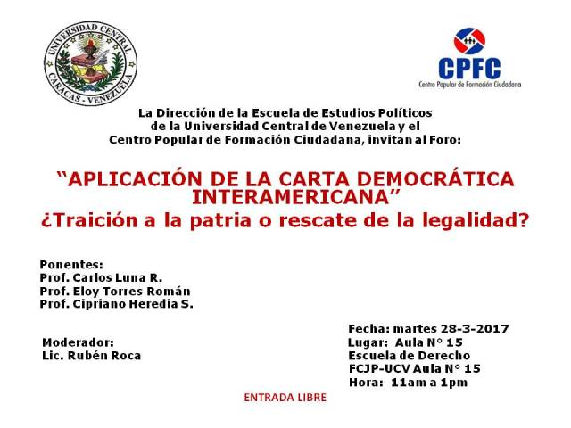 ucv foro carta interamericana