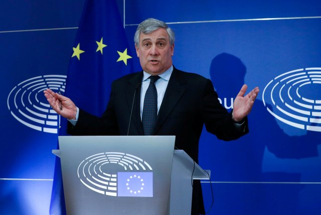 Antonio Tajani , presidente del Parlamento Europeo. REUTERS/Yves Herman
