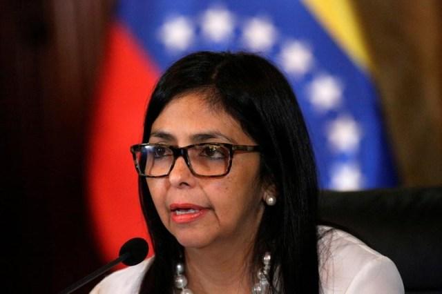 La ministra de Relaciones Exteriores, Delcy Rodríguez (Foto: Reuters)
