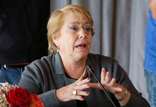 La presidenta de Chile, Michelle Bachelet. REUTERS/Rodrigo Garrido
