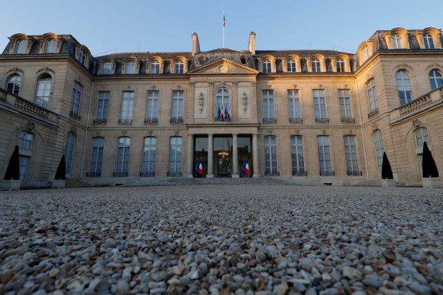 General view of the Elysee Palace, the French President's official residence, in Paris, France, March 28, 2017. Picture taken March 28, 2017. REUTERS/Philippe Wojazer