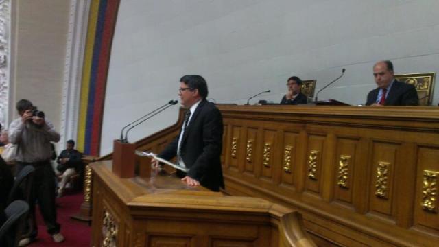 Carlos Berrizbeitia, diputado opositor de la AN / Foto @AsambleaVE