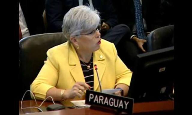 La embajadora de Paraguay ante la Organización de Estados Americanos (OEA), Elisa Ruiz Díaz