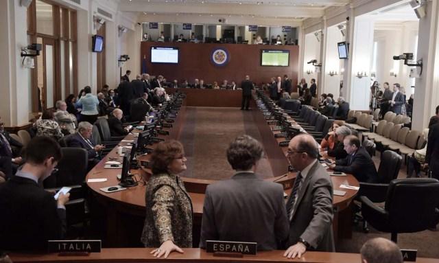 Reunión de Consejo Permanente de la OEA. (Foto archivo EFE/LENIN NOLLY)