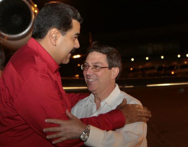 Bruno Rodríguez y nicolas maduro