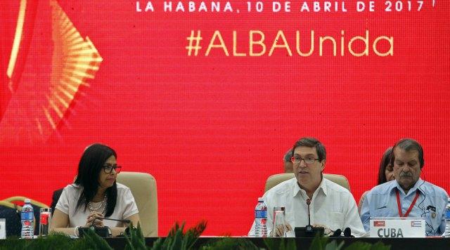 El canciller cubano interviene en la cumbre de Alba que se realiza en La Habana (Foto Efe)