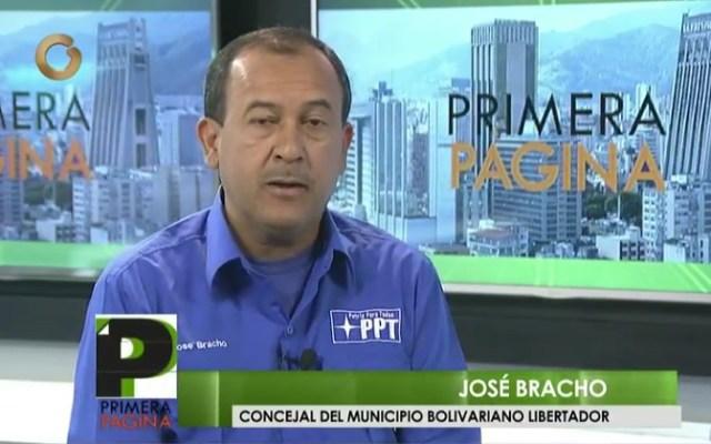 José Bracho, concejal del municipio Libertador / Foto captura tv