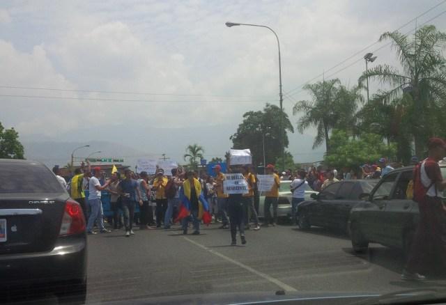 protesta en Maracay / Foto @kennybel