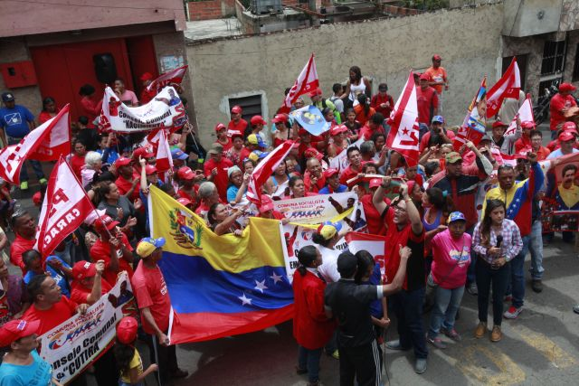 Chavistas-marcha