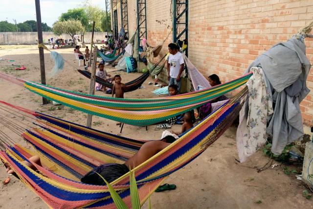Foto: comunidad indígena venezolana Warao en un refugio en Boa Vista / hrw.org