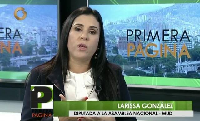 Larissa González, diputada por AD / Foto captura TV