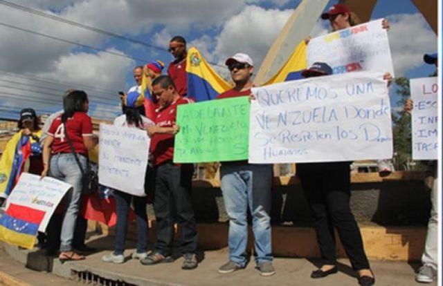 Venezolanos en Honduras también protestaron. Foto: Proceso.Hn
