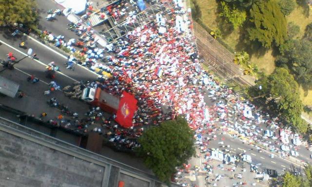Foto: Así se ven las manifestaciones oficialistas en Caracas