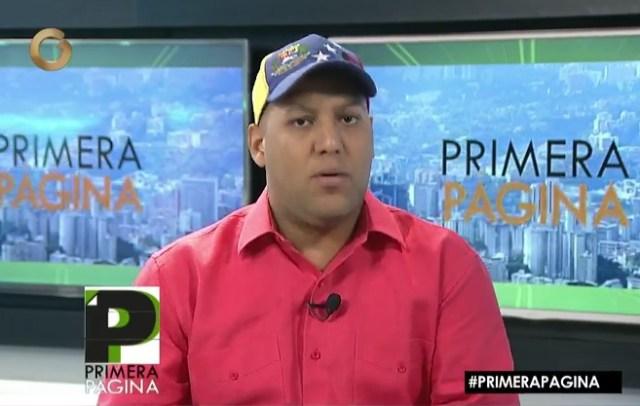 Daniel Aponte, dirigente del Psuv / Foto captura tv