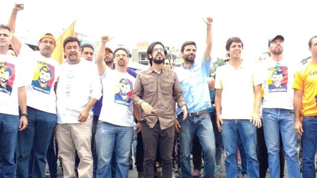 El primer vicepresidente de la Asamblea Nacional, Freddy Guevara respaldó la movilización opositora hacia Ramo Verde. Foto: @FreddyGuevaraC