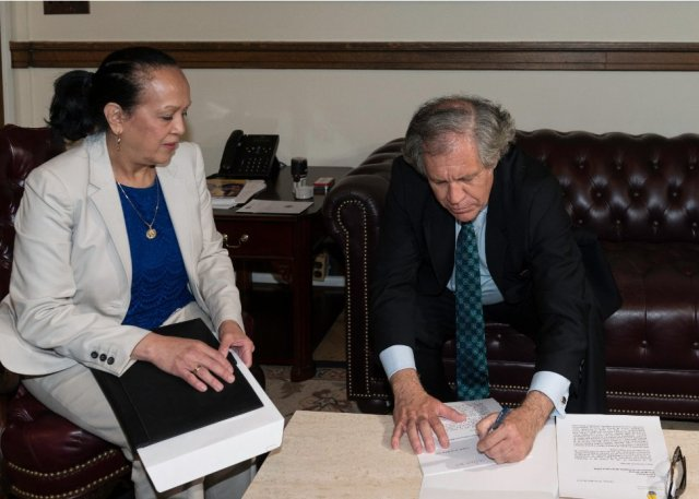 Almagro informó que recibió la nota de la Misión de Venezuela.