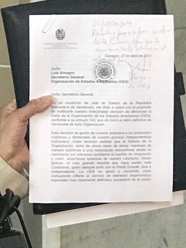 Carta-OEA-Maduro