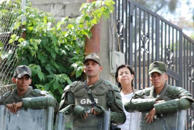 GNB intentó impedir la actividad. Foto: Prensa VP
