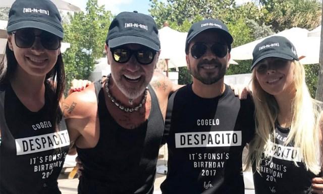 El multimillonario italiano, Gianluca Vacchi y el cantante puertorriqueño han pasado juntos unos días en Miami en compañía de sus parejas