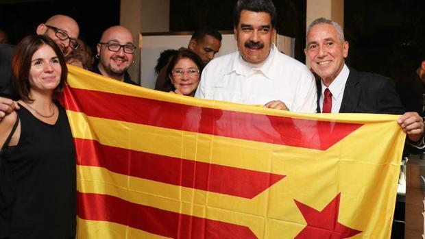 Maduro, retratado con la estelada y los independentistas - ABC